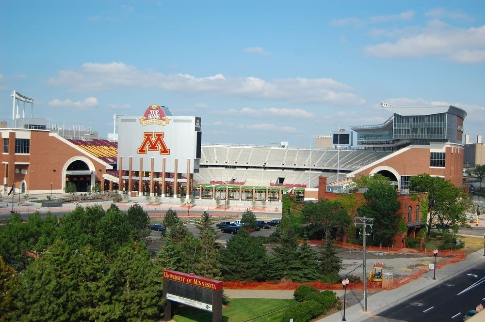 TCF Stadium in July