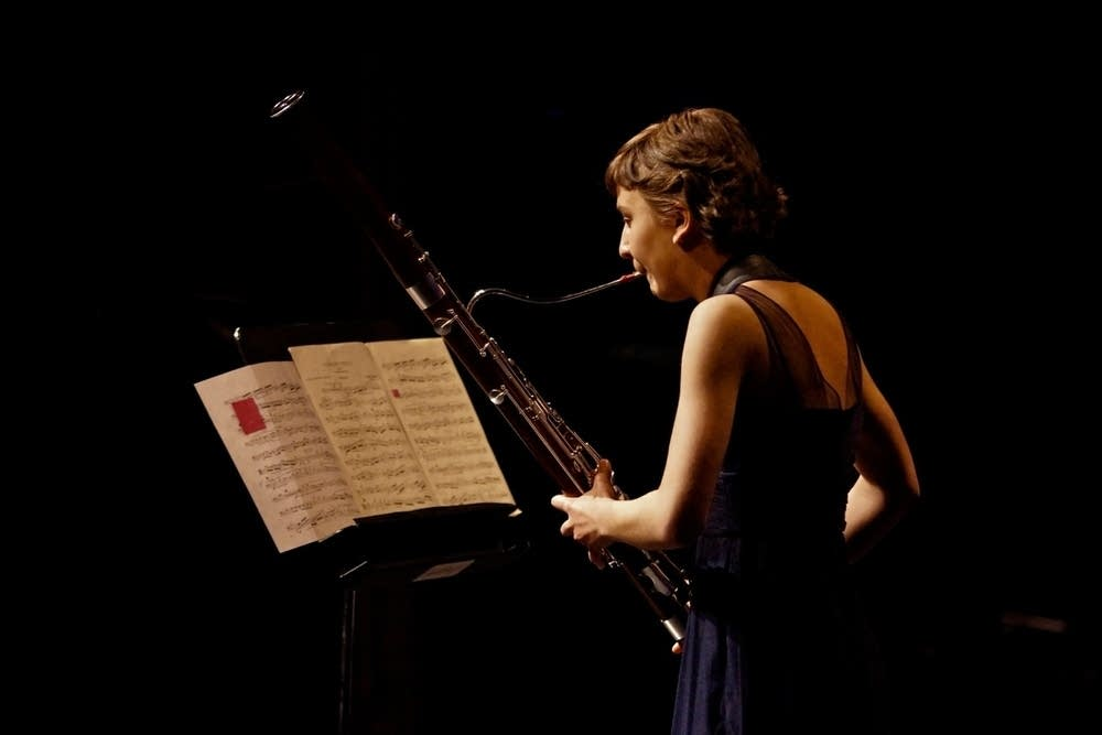 Bassoonist Sarah Tako plays Pierne.