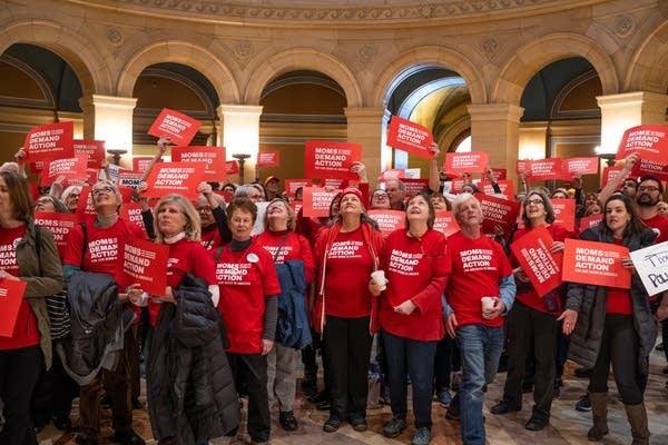 Anti-gun violence activists from Moms Demand Action.