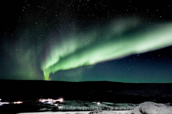 Northern lights in Alaska in February 2017