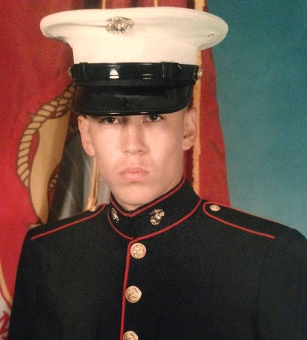 Dustin Peltier, a Marine veteran, died of a drug overdose in April 2016.