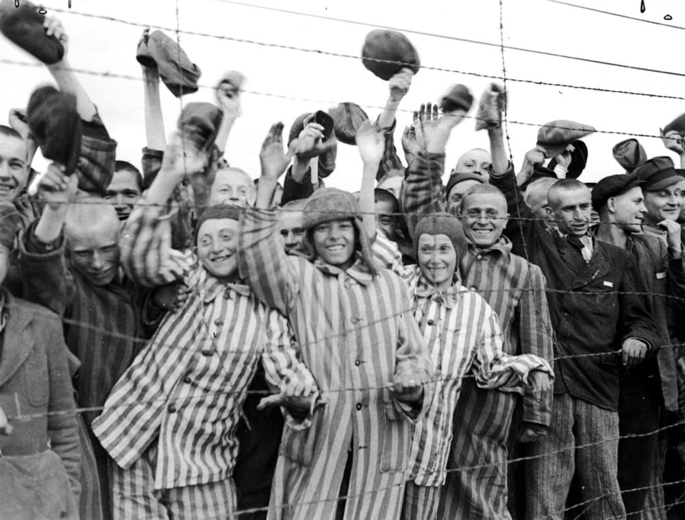 Prisoners cheer