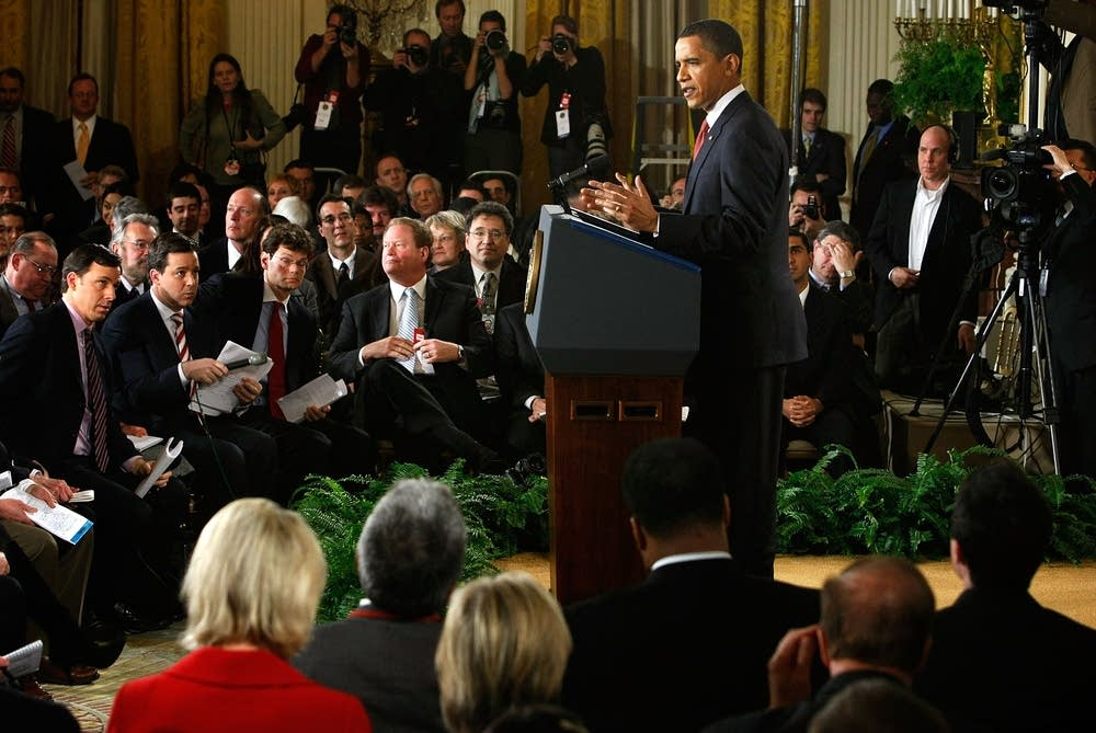 Obama holds a televised press conference