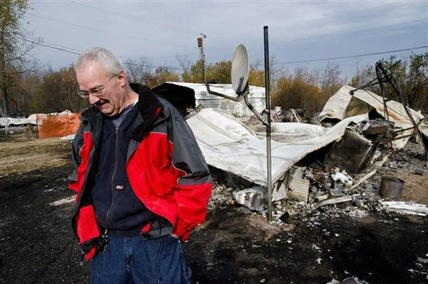 Jim Haire's destroyed home