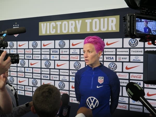 U.S. Women's National Soccer Team winger Megan Rapinoe