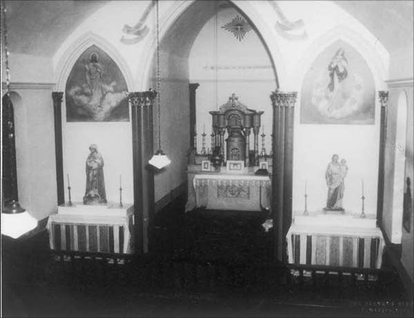 Church interior, 1952