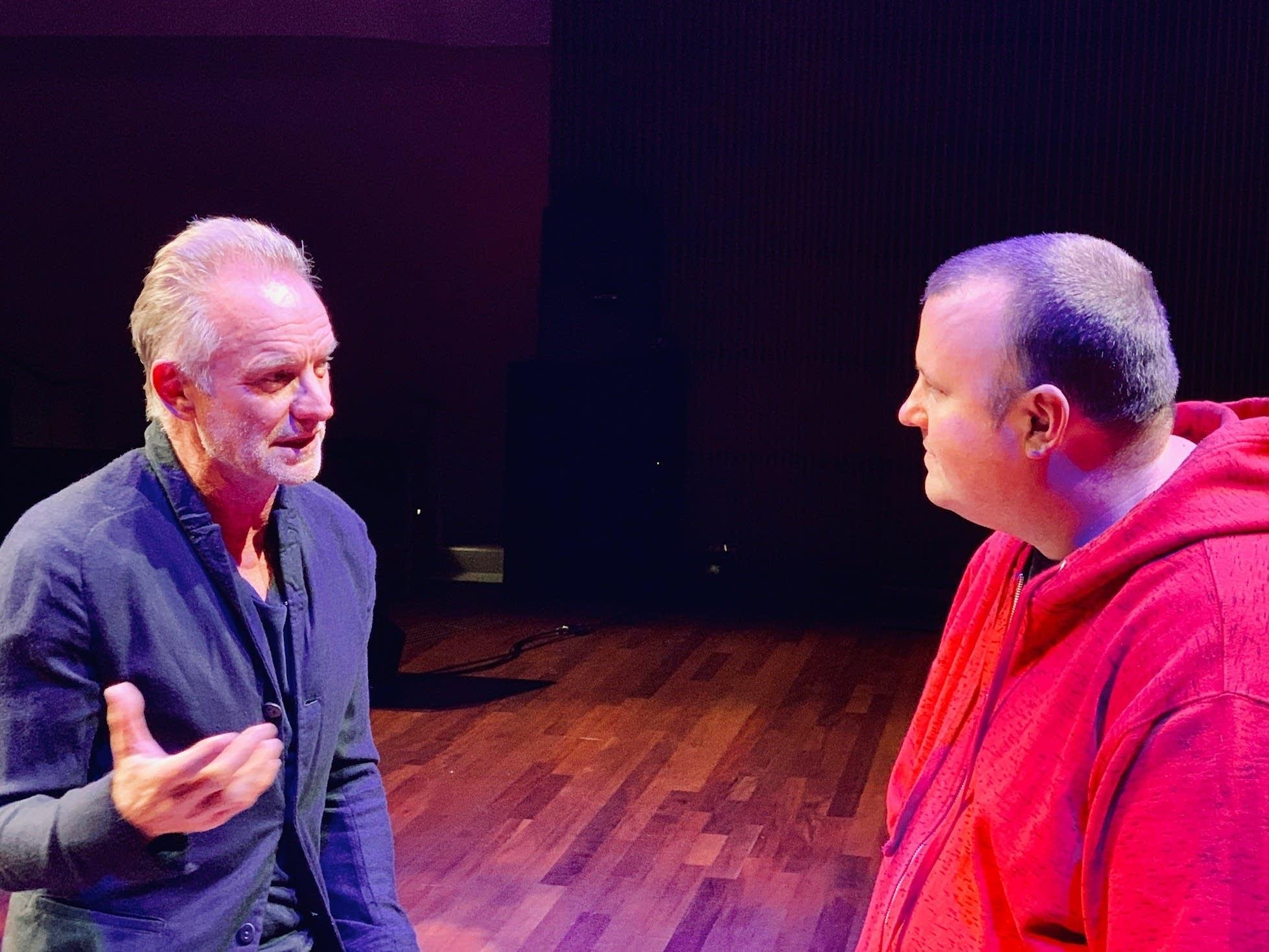Sting talking with Sean McPherson