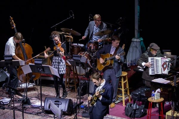 Chris Thile and the band