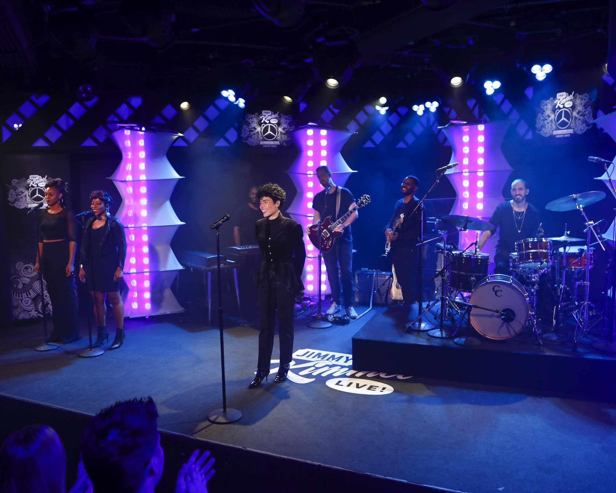 Emily King performs on 'Jimmy Kimmel Live!'