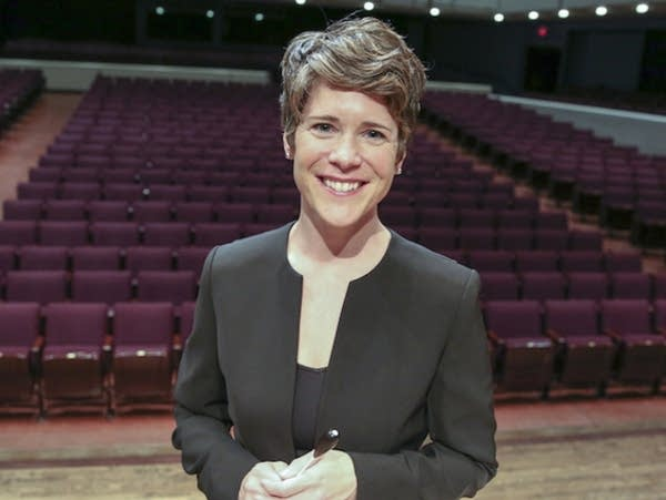 Emily Threinen, director of bands at the University of Minnesota.
