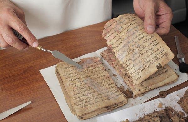 Examining manuscripts