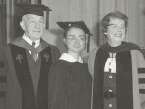 Hillary Clinton during her 1969 commencement