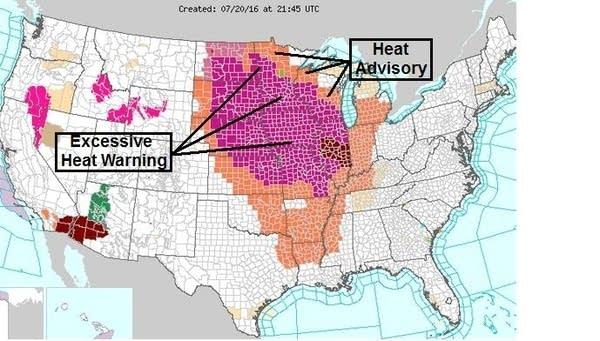 July 20 - heat warnings 2