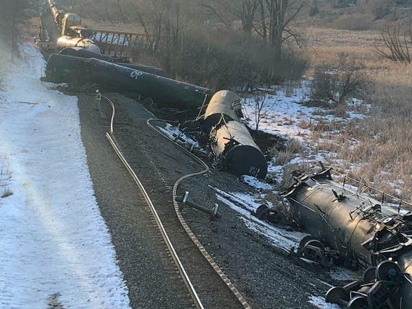 Trail cars derailed