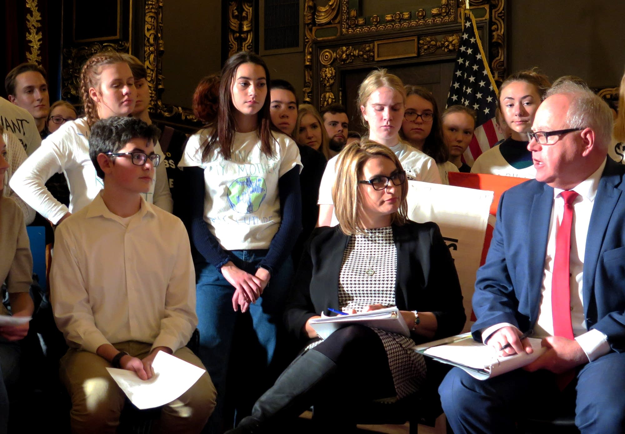 Maddy Fernands and Gabe Kaplans talk to Lt. Gov. Flanagan and Gov. Walz