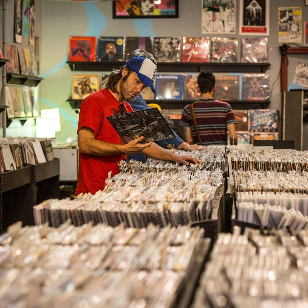Shopping for records at Goner Records in Memphis