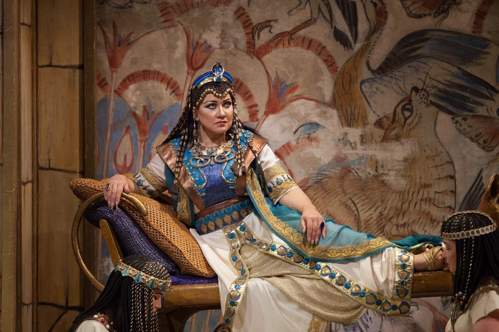 "Olga Borodina as Amneris in Verdi's ""Aida."""