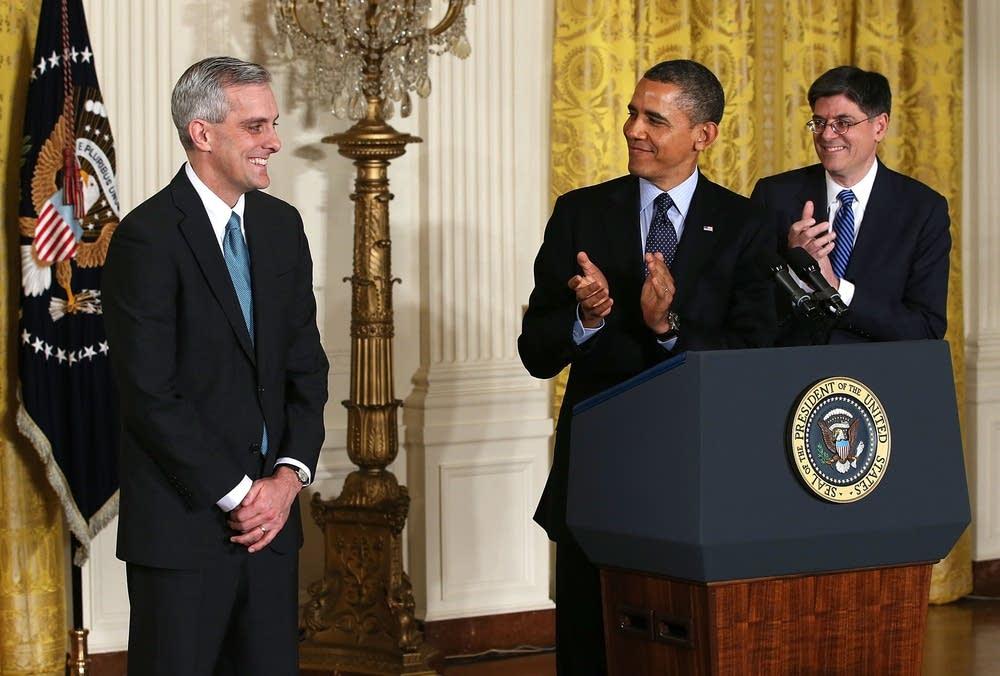 Obama, McDonough, Lew