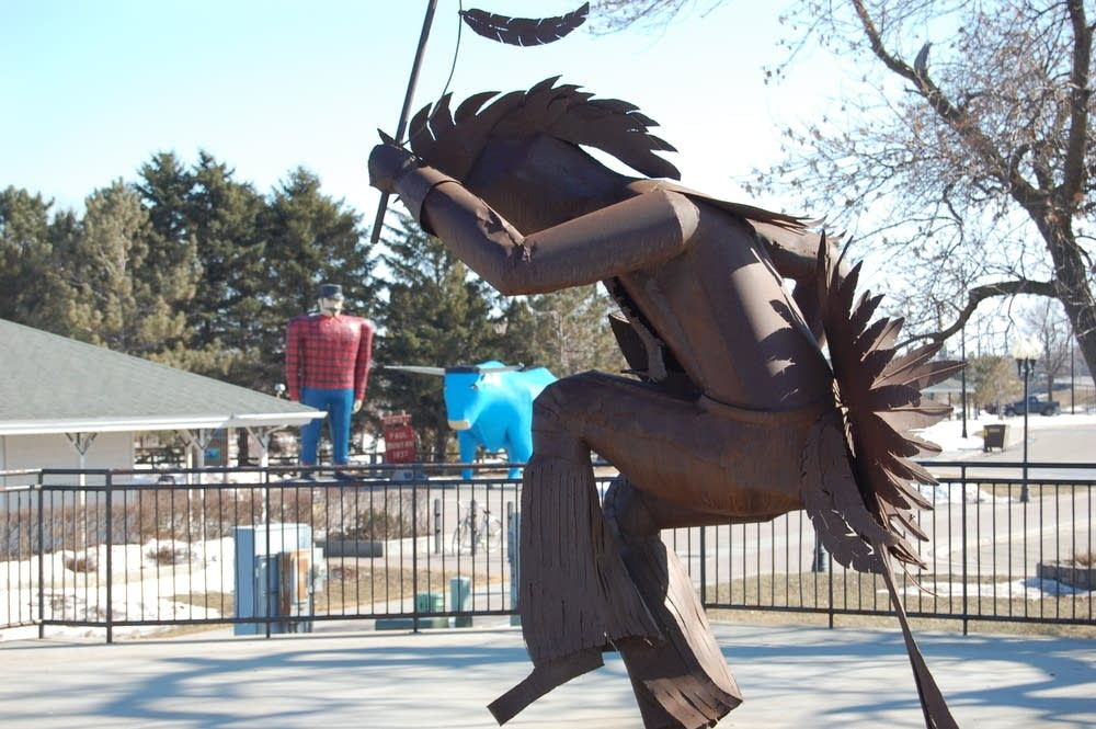 Bemidji's Indian sculpture