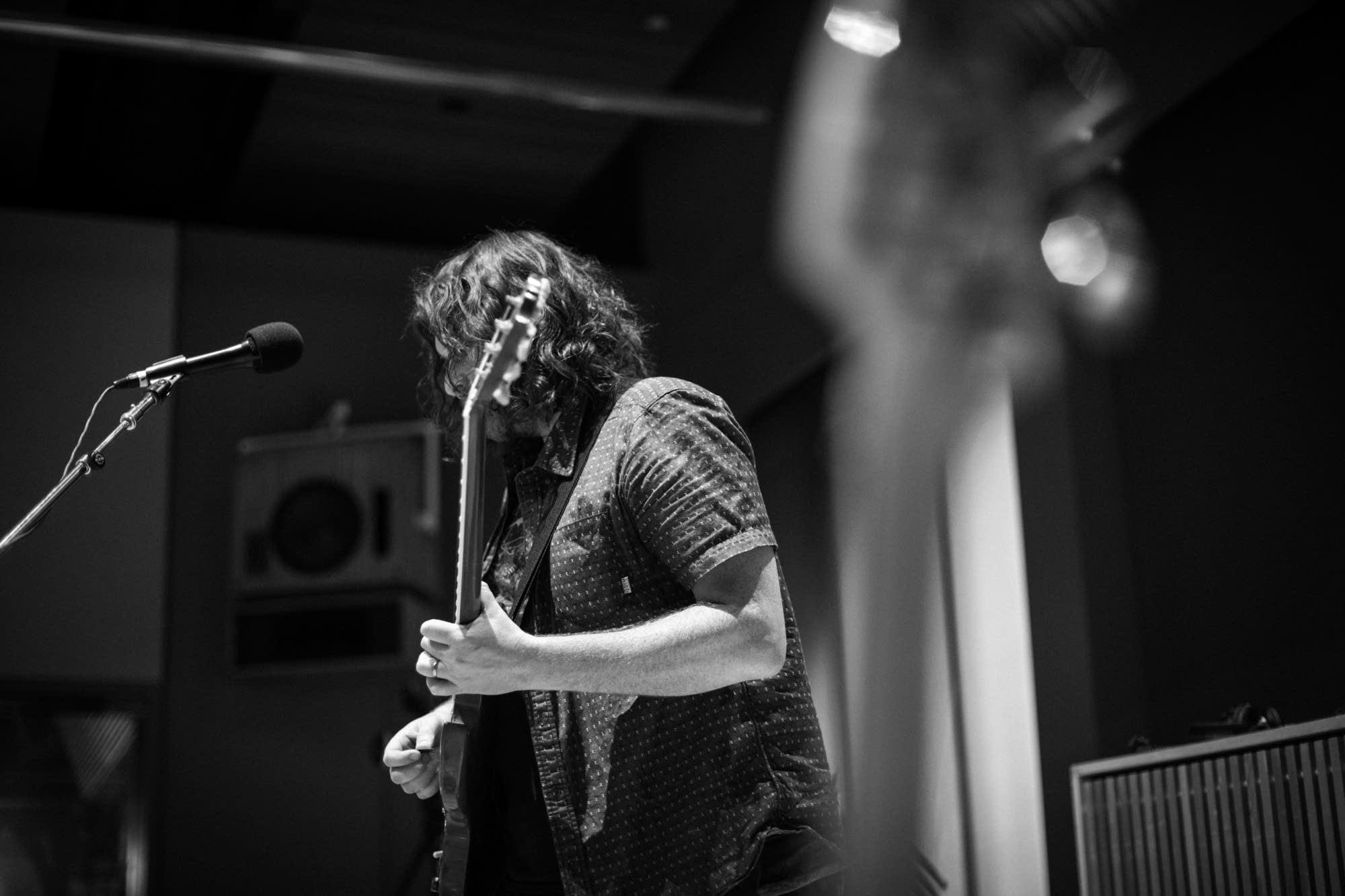 Billy Gordon of J. Roddy Walston & The Business in studio