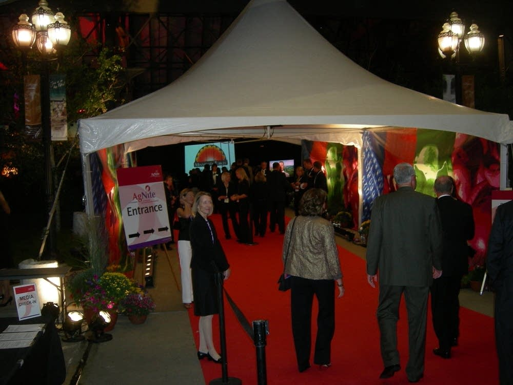 The red carpet entrance to AgNite