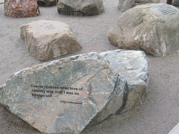 """""""Story stones"""" at the new monument"""