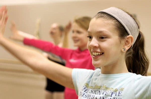 Zoe Gorton rehearses for the Nutcracker ballet.