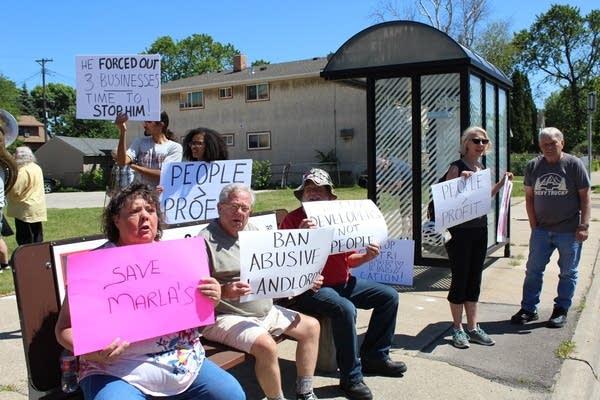 People protest Marla's Caribbean Cuisine's closure