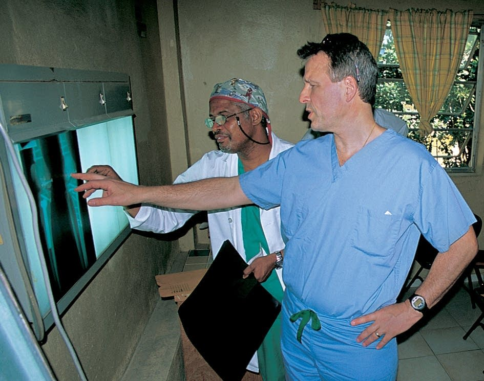 Examining X-rays