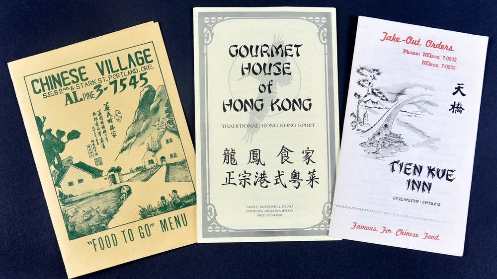 A selection of Chinese menus from the collection