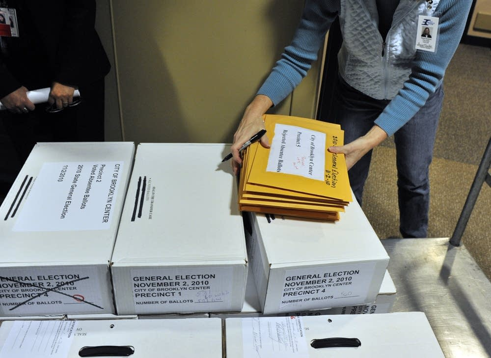 Stack of ballots