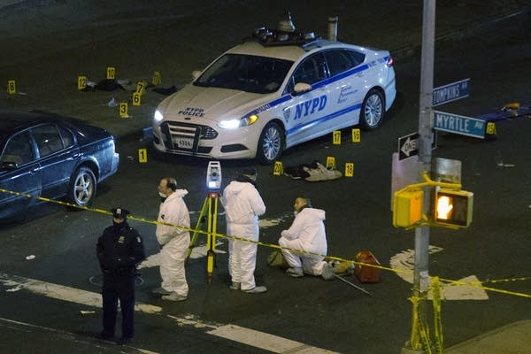 Two NYPD officers were shot Saturday in NYC